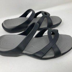 Crocs Meleen Twist Crossband Sandal Sz 6